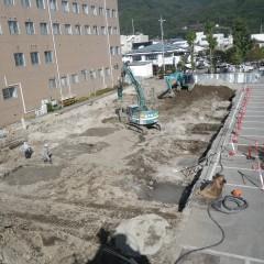 地盤改良工事 大町病院被災者収容施設